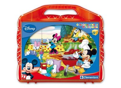 Παζλ Disney Mickey - Super Color Disney Clementoni - 12 Κύβοι
