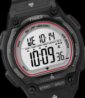 Ανδρικό ρολόι timex ironman shock resistant μαύρο