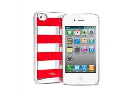 Θήκη iPhone 4/4s - Puro Stripe Cover Κόκκινο apple   αξεσουάρ iphone   θήκες