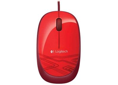Logitech M105 Red - Ενσύρματο Ποντίκι - Κόκκινο