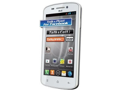 Smartphone MLS iQTalk King Dual Sim 4GB Λευκό