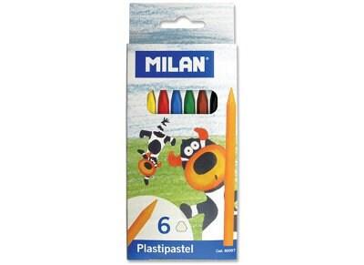 Κηρομπογιές Milan Pastipastel 80007 - 6 χρώματα