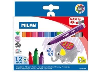 Μαρκαδόροι Ζωγραφικής Milan Maxi 80020 (12 τεμάχια)