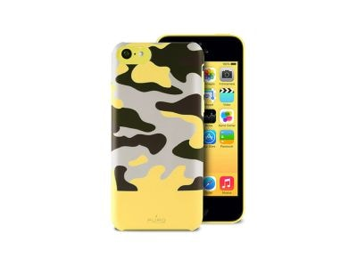 Θήκη iPhone 5c - Puro Camou Soft Cover IPCCCAMOUYEL Κίτρινο apple   αξεσουάρ iphone   θήκες