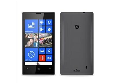 Θήκη Nokia Lumia 520 - Puro Silicon Cover NOKIA520SBLK Ανθρακί