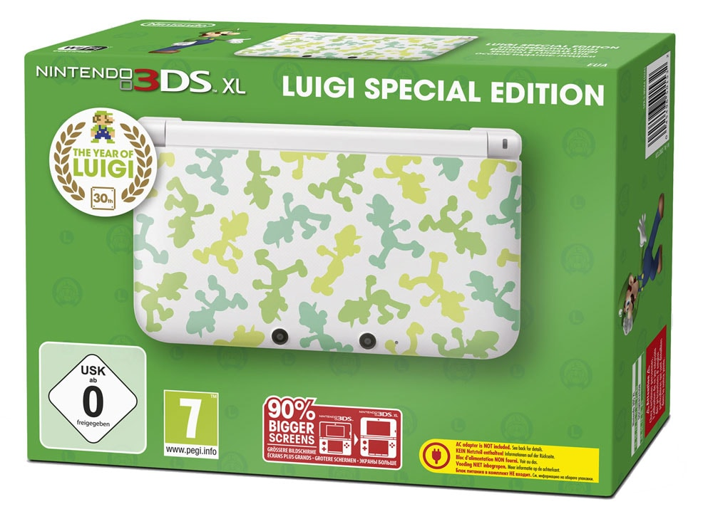 nintendo 3ds xl luigi special edition. Black Bedroom Furniture Sets. Home Design Ideas