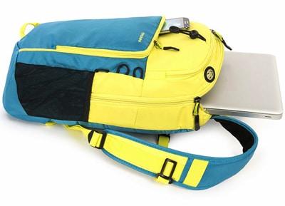 """Τσάντα Laptop Πλάτης 15"""" Tucano Tech-Yo Κίτρινο/Μπλε"""