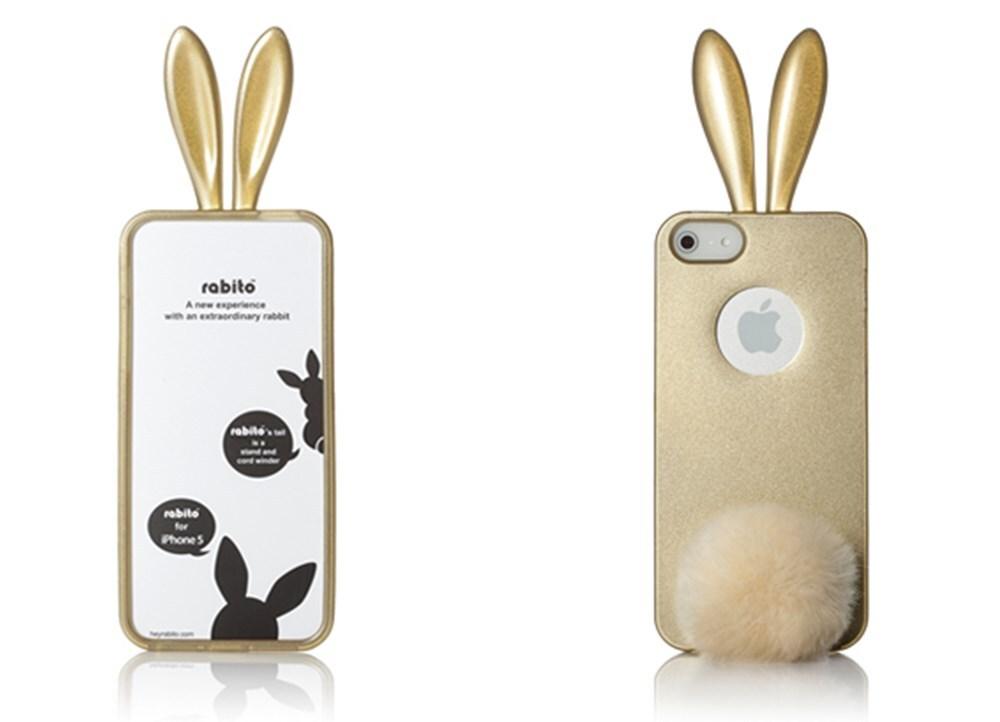 Θήκη iPhone 5/5s - Rabito BlingBling Χρυσό | Public
