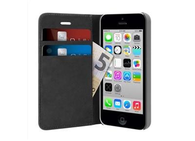 Θήκη iPhone 5/5s - Puro Ecoleather Wallet Μαύρο apple   αξεσουάρ iphone   θήκες