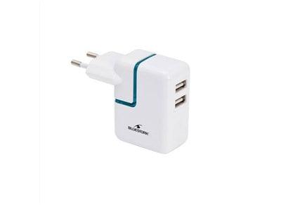 Αντάπτορας Πρίζας Universal USB - Bluestork BS-220-2USBPRO Λευκό apple   αξεσουάρ ipad   φορτιστές