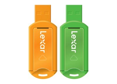 USB stick Lexar JumpDrive V20 2xMultiPack 8 GB 2.0 Πορτοκαλί & Πράσινο