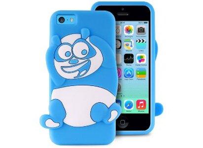 Θήκη iPhone 5/5s/5c - Puro Happy Cartoon Panda IPCCPANDA3DBLUE Μπλε apple   αξεσουάρ iphone   θήκες