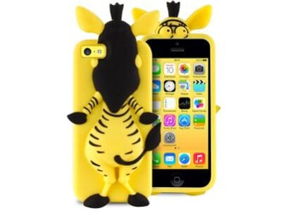 Θήκη iPhone 5/5s/5c - Puro Happy Cartoon Zebra IPCCZEBRA3DYEL Κίτρινο apple   αξεσουάρ iphone   θήκες