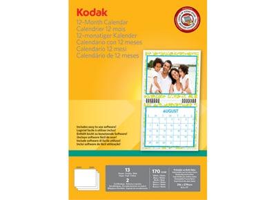 Χαρτί Φωτογραφικό Kodak 12 Month Calendar 216x279mm - 13 φύλλα