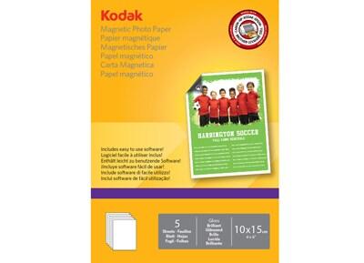 Χαρτί Φωτογραφικό Kodak Magnetic Photo Paper 10x15cm - 5 φύλλα