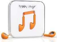 Handsfree Ακουστικά Happy Plugs Earbud Πορτοκαλί