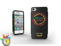 Θήκη iPhone 4/4s - WIT Premium Tough Shield Μαύρο