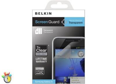 Μεμβράνη οθόνης Samsung Galaxy S - Belkin Screen Guard Transparent F8M208CW3 - 3 τεμ