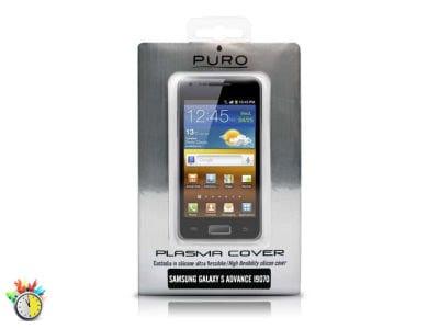 Θήκη Samsung Galaxy S Advance - Puro Silicon Case SAMSUNGI9070SBLK Μαύρο