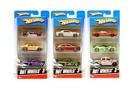 Αυτοκινητάκια Hot Wheels (Σετ 3 Τεμαχίων)