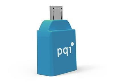 Adapter USB to Micro USB - PQI Connect 204 RF02-0011R014J Μπλε