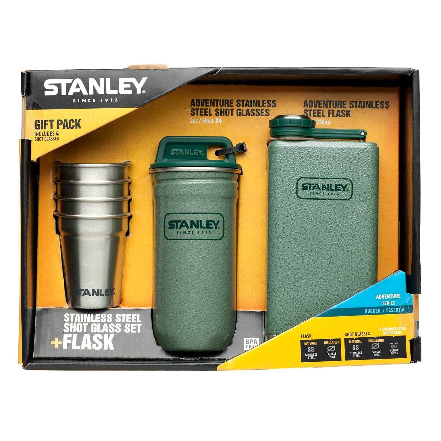 Σετ Φλασκί Stanley Adventure Steel Flask