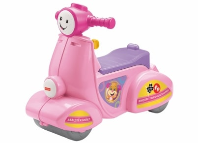 Εκπαιδευτικό Scooter Fisher Price Laugh & Learn Smart Stages Ροζ