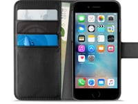Θήκη Apple iPhone 7 Puro Ecoleather Wallet IPC747BOOKC4BLK Μαύρο