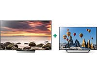 "Τηλεόραση Sony 55"" Smart LED Ultra HD KD 55XD8505BAEP & 32"" Smart TV LED HD Ready 32WD600"