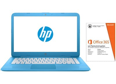 "Laptop HP Stream 14ax000nv 14""  (N3060/2GB/32GB/HD400) Γαλάζιο"