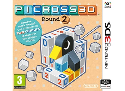 Picross 3D: Round 2 - 3DS/2DS Game