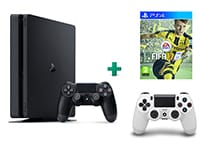 Sony PlayStation 4 - 1TB Slim D Chassis & FIFA 17 & 2ο Χειριστήριο (λευκό)