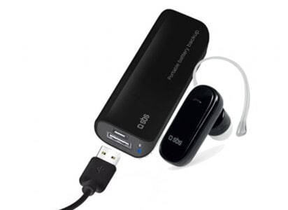 Powerbank SBS Portable Battery Backup 2200 mAh & Bluetooth SBS Headset Μαύρο