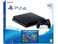 Sony PlayStation 4 - 500GB Slim D Chassis & Pro Evolution Soccer 2017 & 3 Μήνες PS Plus