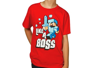 T-Shirt Jinx Minecraft Like a Boss - Παιδικό 13-14