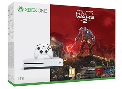 Microsoft Xbox One S White - 1TB & Halo Wars 2 Ultimate Edition