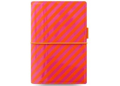 Οrganiser Σημειωματάριο Filofax Personal Domino Patent Orange/Pink Stripes