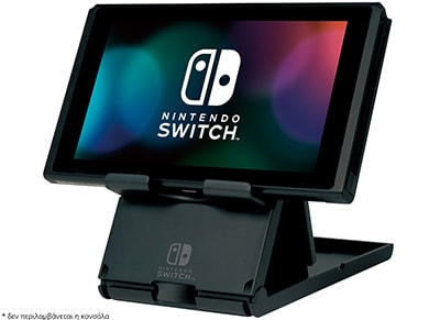 Hori Switch Compact Playstand - Βάση Στήριξης Nintendo Switch - Μαύρο gaming   αξεσουάρ κονσολών   nintendo switch   cables   chargers