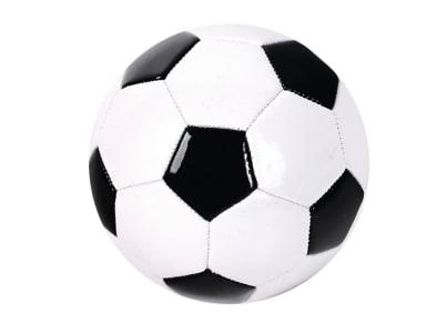 Μπάλα Ποδοσφαίρου Δερμάτινη Black and White  a8345da5e49