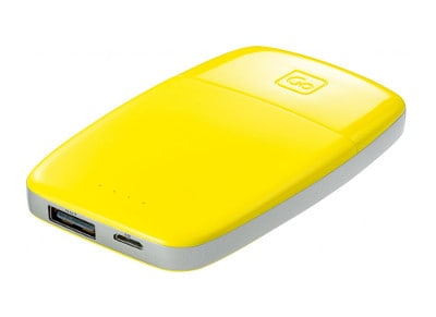 Powerbank Go Travel 4000 mAh Κίτρινο