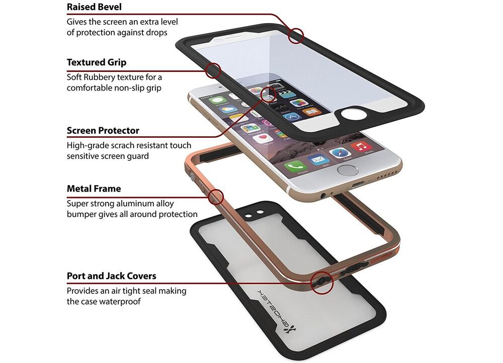 a2bfeef881 Αδιάβροχη Θήκη Apple iPhone 6 6S - Ghostek Atomic 2 Γκρι reviews. wbh  wbh