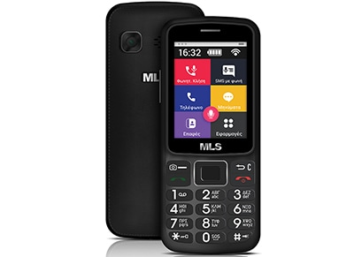 MLS Easy S1 8GB Μαύρο Dual Sim Smartphone