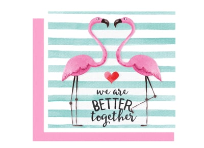 Ευχετήρια Κάρτα LEGAMI Greeting Card We Are Better Together Flamingo