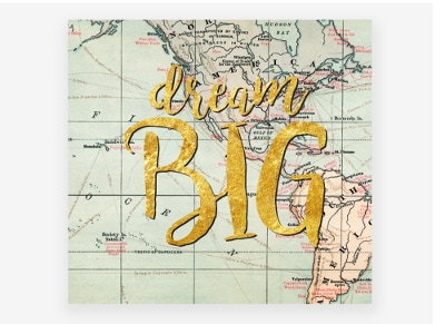 Ευχετήρια Κάρτα LEGAMI Greeting Card Dream Big Map
