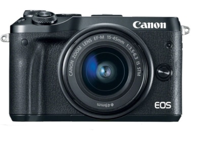 Mirrorless Camera Canon EOS M6 15-45mm Kit - Μαύρο