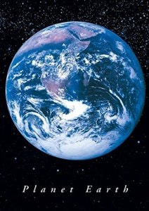 Planet Earth Portrait Poster