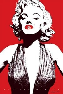 Marilyn Monroe Red Lips Poster