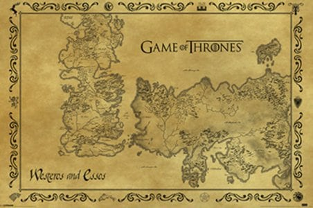 Game Of Thrones Antique Map Poster