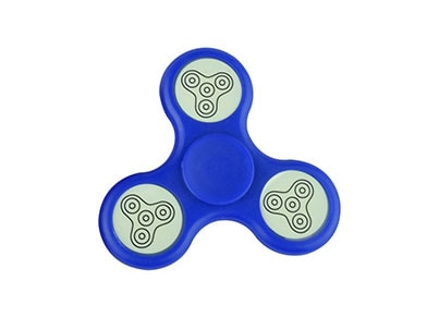 Fidget Spinner Led Dark Blue