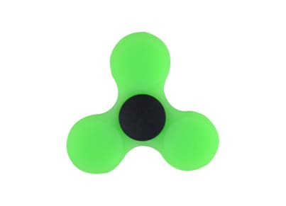 Fidget Spinner Silicon Green